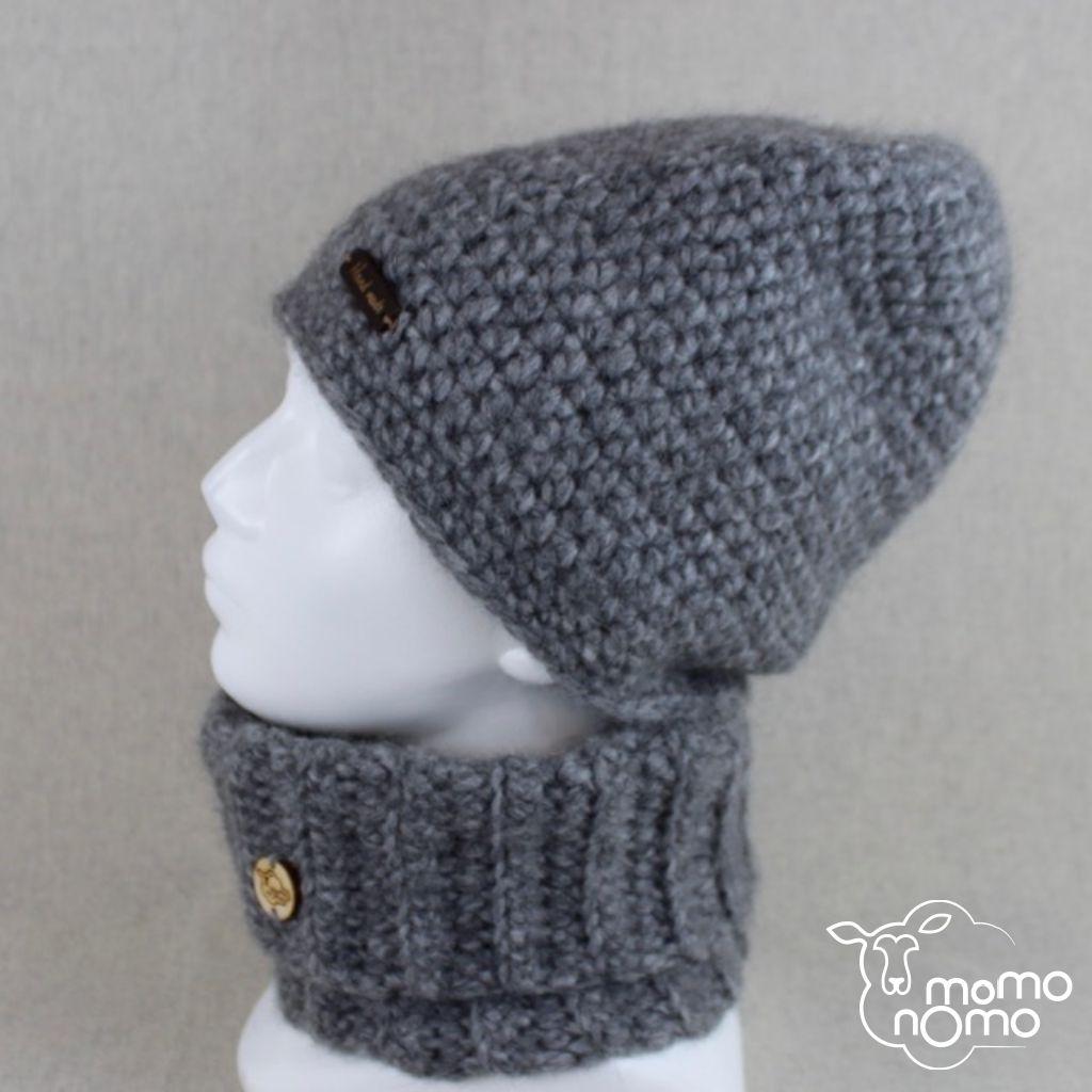 ciepły komplet czapka komin wełna alpaka