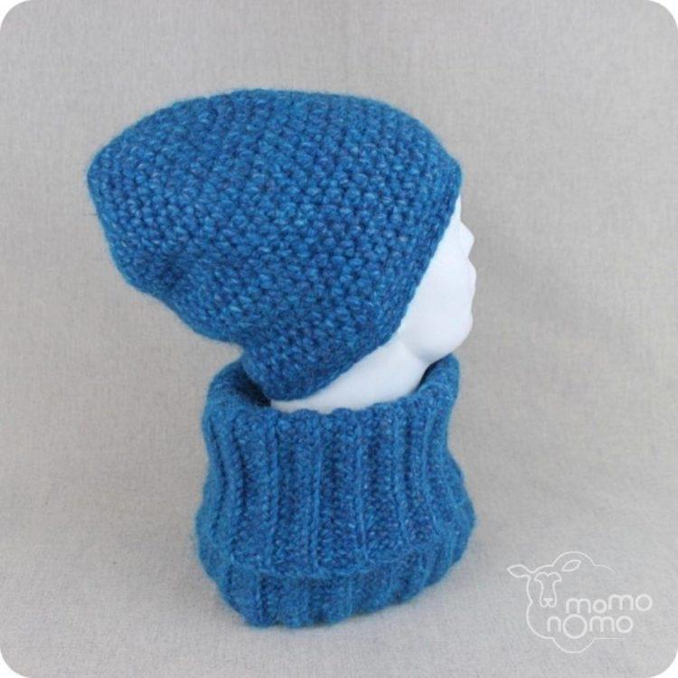 cieplutki komplet czapka i komin z alpaki
