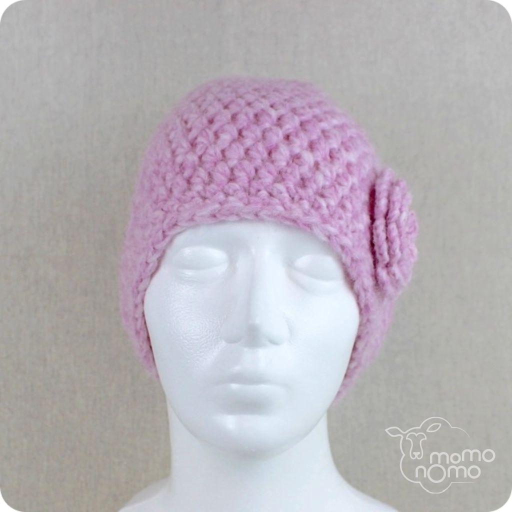 ciepła różowa czapka naturalna alpaka_momonomo.com