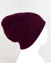 ręcznie wykonana czapka damska z naturalnej alpaki