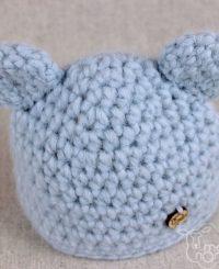 mięciutka czapka z uszkami wykonana z naturalnej alpaki