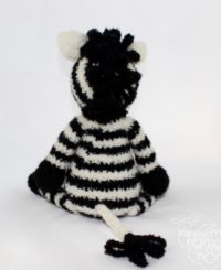 miękka przytulanka z alpaki zebra dla dziecka