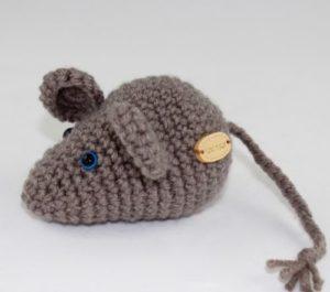 myszka przytulanka z wełny alpaki