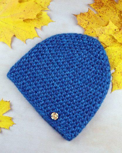 Klasyczna czapka z wełny alpaki - turkusowa