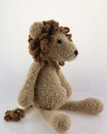 lew przytulanka z naturalnej alpaki Leonard