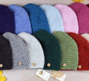 ciepłe czapki z alpaki różne kolory