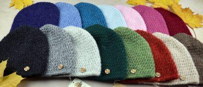 ciepłe czapki z naturalnej wełny alpaki
