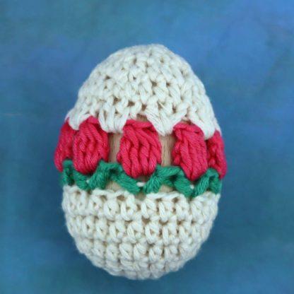 ręcznie wykonana pisanka wielkanocna tulipany momonomo.com