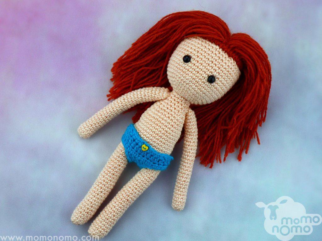 ruda lalka przytulanka momonomo