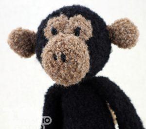 małpka przytulanka z alpaki