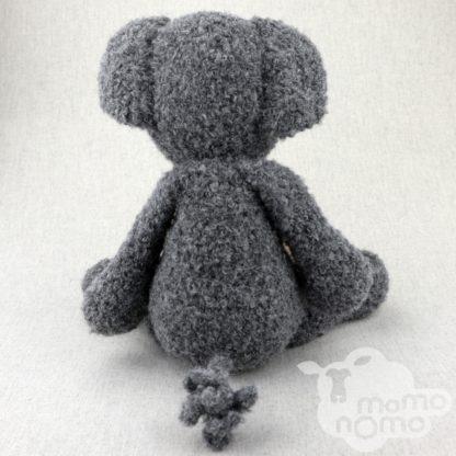 słonik szary zabawka przytulanka z alpaki