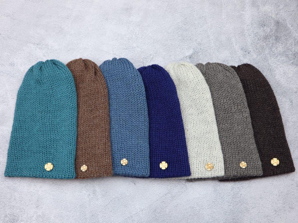 podwójne czapki unisex z peruwiańskiej alpaki