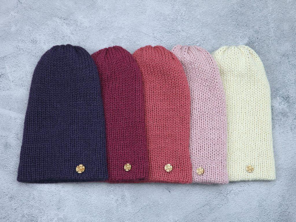 czapki damskie ze 100% alpaki