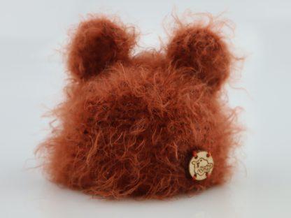czapki dla lalek puchate zwierzątka