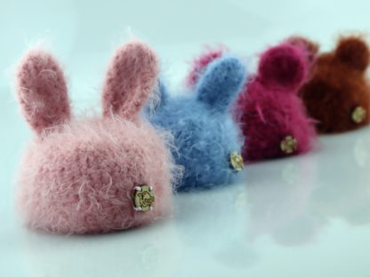 czapki dla lalki - puchate zwierzaki