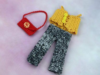 różne szydełkowe ubranka z bawełny dla lalki dla dzieci