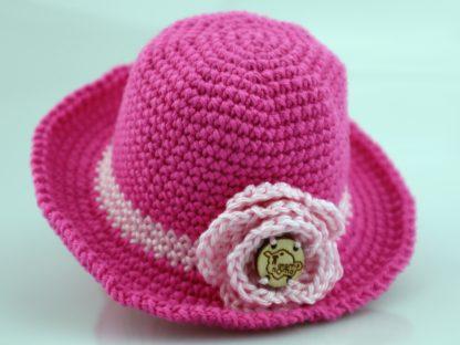 elegancki kapelusz dla lalki fuksja