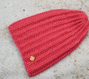 Długa czapka z alpaki - różowa