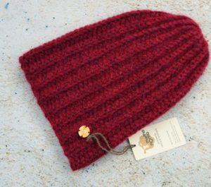 Długa czapka alpaka - bordowa