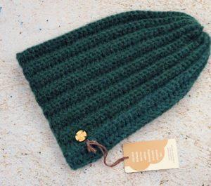 Długa czapka alpaka - butelkowa zieleń