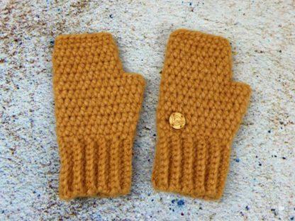 Rękawiczki damskie mitenki żółte piękny słoneczny kolor