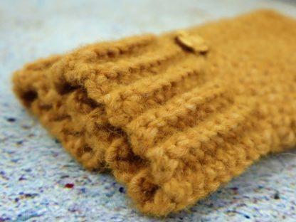 Rękawiczki damskie mitenki żółte ciepłe miękkie i bardzo wygodne