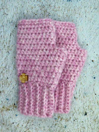 Rękawiczki damskie alpaka różowe alpaka