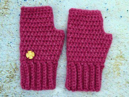 Rękawiczki damskie zimowe wrzos z wełny alpaki