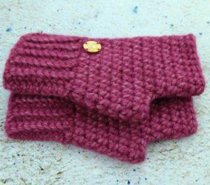 Rękawiczki damskie zimowe wrzos
