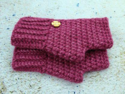 Rękawiczki damskie zimowe wrzos cieplutkie i miękkie