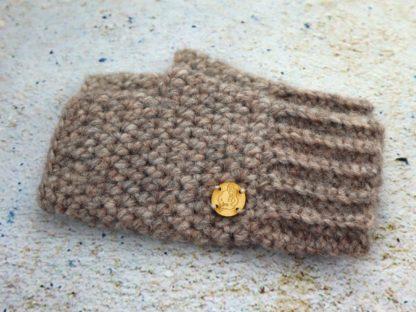 Rękawiczki zimowe bez palców w pięknym beżowym kolorze